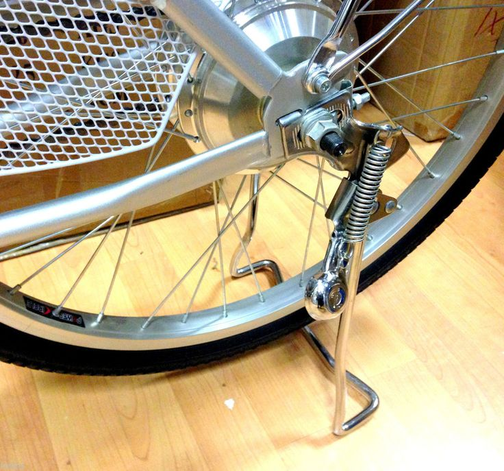 Lightweight Kickstand: Spring Loaded Adjustable Bicycle Kickstand Double Legs