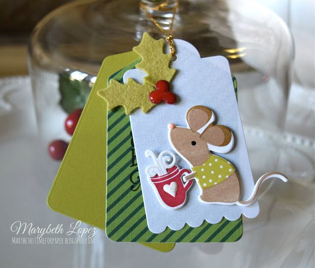 Marybeth's time for paper: Christmas Mouse!