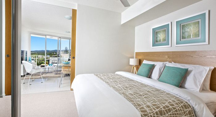 "Oshen Yeppoon - Fit-out by PPS.  Bed Runner 'Fiddlesticks"" String by HotelHome Australia."