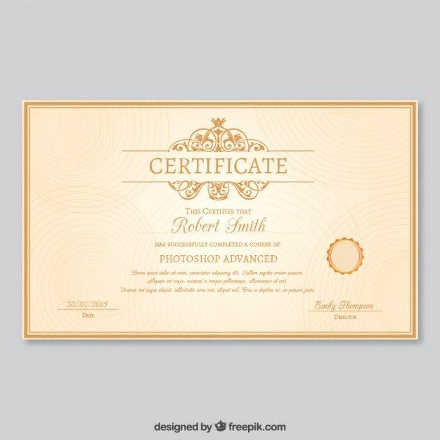 plantilla de certificado elegante vector gratis certificado