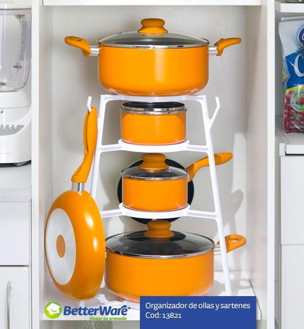 Organizador de ollas y sartenes cod 13821 - Ollas de cocina ...