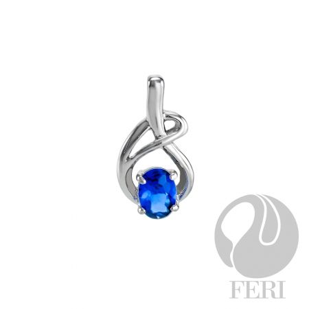 Sapphire Bliss Pendant. $73. Sterling Silver with AAA blue cubic zirconia.