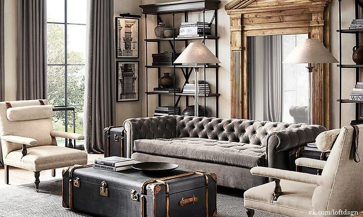 chesterfield living room best 20 restoration hardware office ideas on 11008