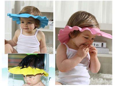 Baby Kids Toddler Safe Shampoo Bath Bathing Shower Cap Hat Wash Hair Shield HOT.. USD 0.99