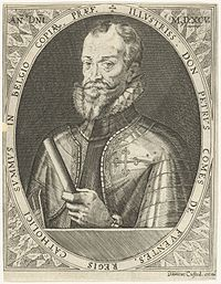 1592: Count of Fuentes, Governor of the Spanish Netherlands, 1595-96, & rival with Count Mansfelt, as commander of a Spanish sh forces in the Netherlands after the Heath of Parma
