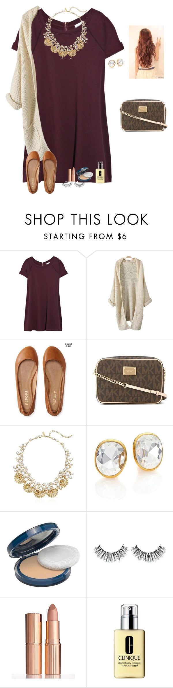 """Day 7: Christmas dinner+opening presents"" by raquate1232 ❤ liked on Polyvore featuring Vanessa Bruno, Aéropostale, MICHAEL Michael Kors, Kate Spade, Kenneth Jay Lane, COVERGIRL, Charlotte Tilbury, Clinique and KarinasChristmas2k16"