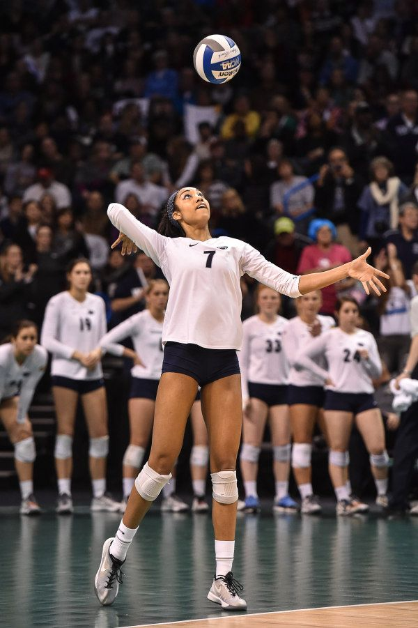 Nia Grant (7) during the Nittany Lions match with the BYU Cougars. Penn State defeated the Cougars in straight sets to take home their seventh National Championship the most for any women's volleyball program in the history of the NCAA event.