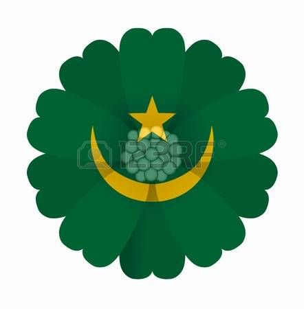 illustration of flower Flag Mauritania photo
