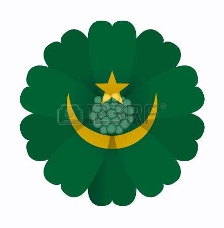 illustration of flower Flag Mauritania photo