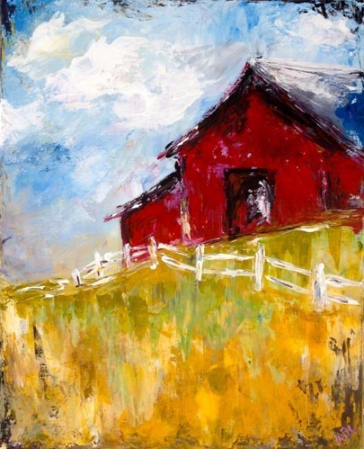 Colorful Landscape Paintings Acrylics