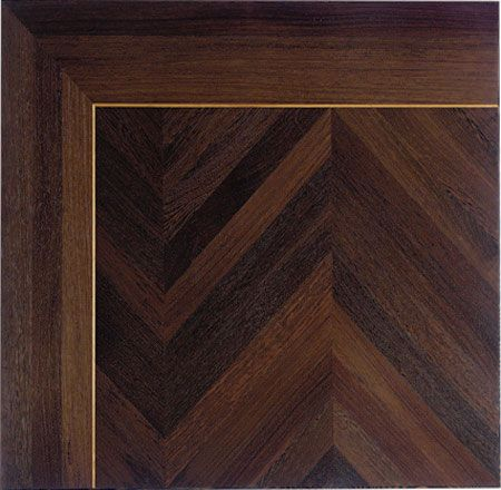 by Schenck & Company  flooring - Rift and quarter sawn wenge and mahogony in chevron pattern