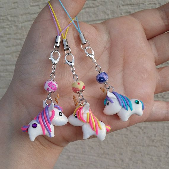 Cute Polymer clay Unicorn charms