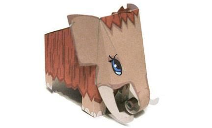 Little Mammoth Paper Toy - by Made In Paperland        ==    A cute Mammoth paper toy, by Russian website Made In Paperland.