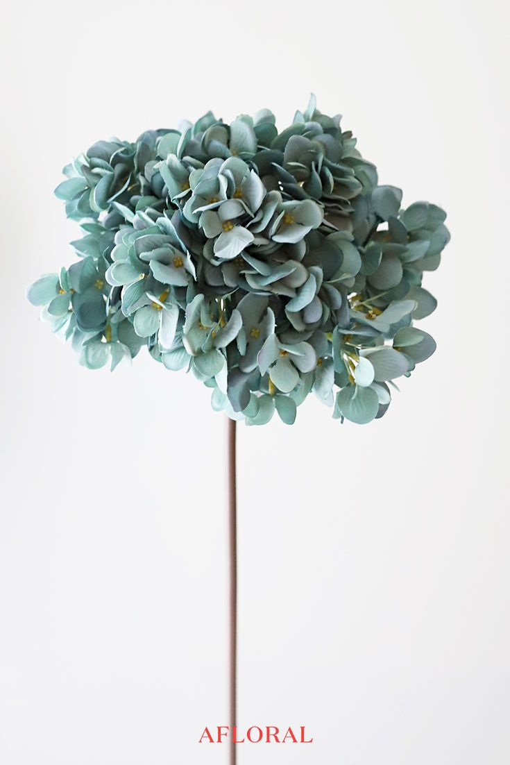 Artificial Hydrangea Flower Teal Wedding Flowers Simple Wedding Flowers Fake Hydrangeas