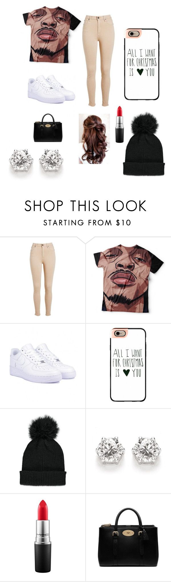 """August Alsina Concert featuring diamond earrings"" by shakira-luvs-august-alsina on Polyvore featuring NIKE, Casetify, Forever 21, MAC Cosmetics and Mulberry"