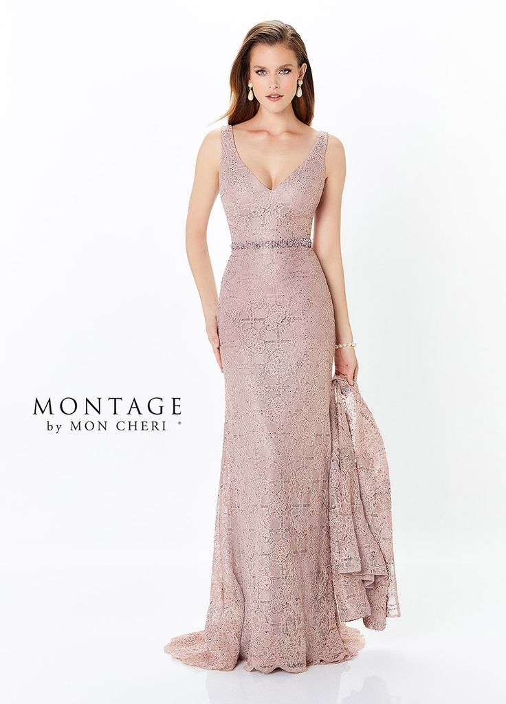 Montage by Mon Cheri 118983 V-Neck Mother of Bride Dress with Jacket