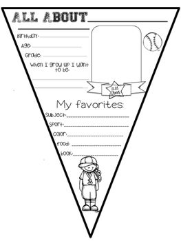 Doing a Back to School Baseball Theme? Use these All About Me Baseball Themed Pennants to get to know your students better. Then create a wonderful banner with them. There is a girl version and a boy version.