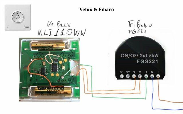 Velux KLI110WW & FIBARO FGS221