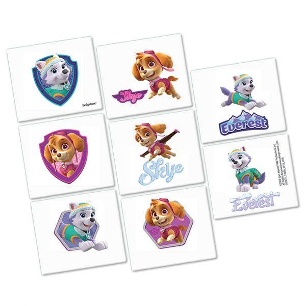 Paw Patrol Pink Tattoos 16pk Party Supplies Canada - Open A Party