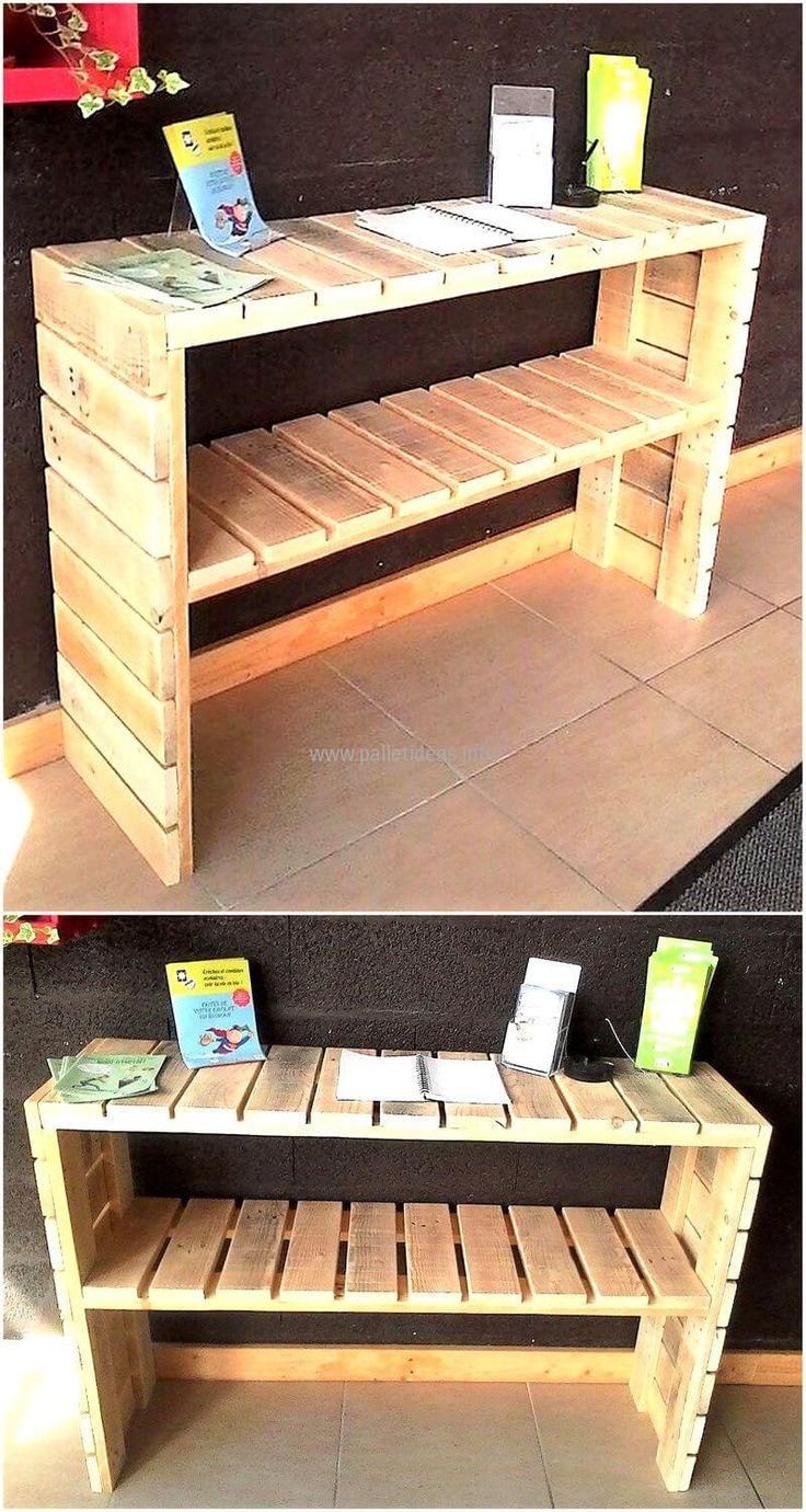 wooden pallets enterance table