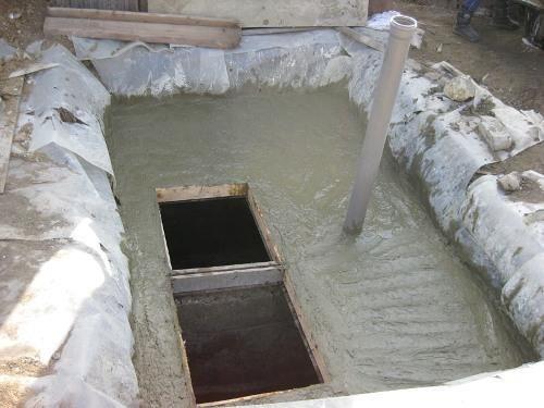 Монолитный бетонный септик без откачки своими руками
