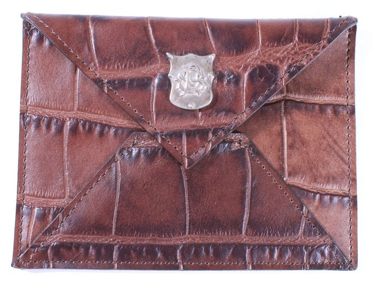 PAUL SMITH CROCADILE BROWN LEATHER CARD CARRIER HOLDER CASE – London Couture