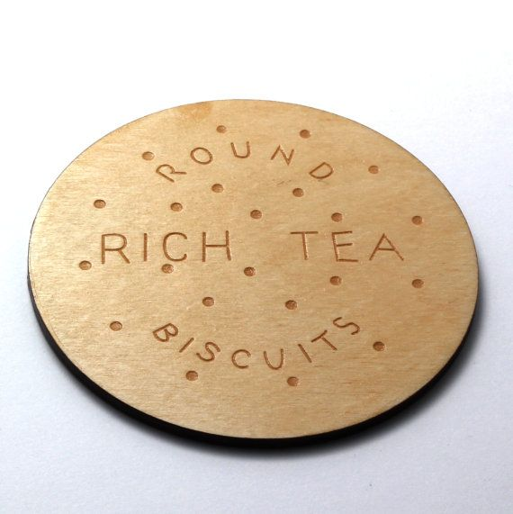 Rich Tea Biscuit Coasters by CrispyDuckDesign on Etsy, £10.00