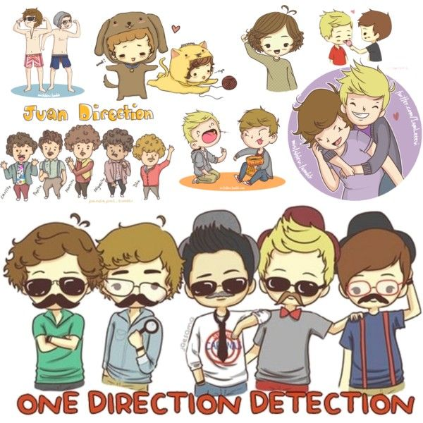 One Direction Cartoons ♥@Hannah Mestel Mestel Mestel Burns rember when we traced these in class