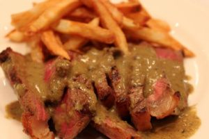 It's spring, so of course I'm dreaming of a trip back to Paris and Le Relais de l'Entrecote steak house. Here's a recipe mirroring that secret steak sauce. Yumm!