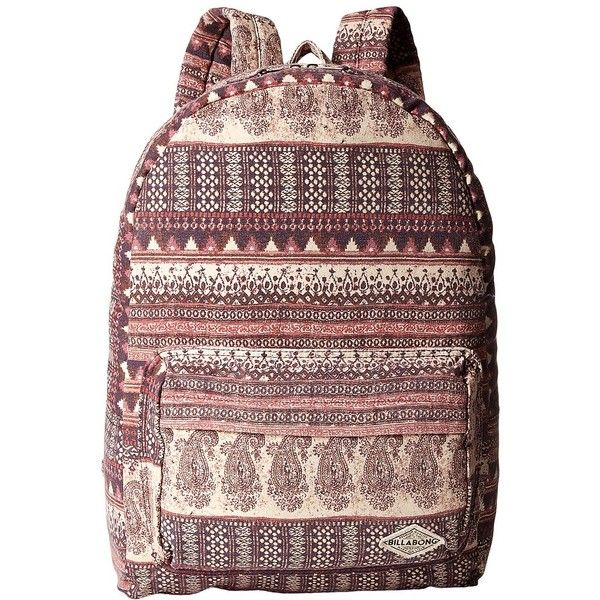 Billabong Hand Over Love Backpack (Mystic Maroon) Backpack Bags ($45) ❤ liked on Polyvore featuring bags, backpacks, cotton bags, billabong, billabong backpacks, backpack bags and cotton pouch
