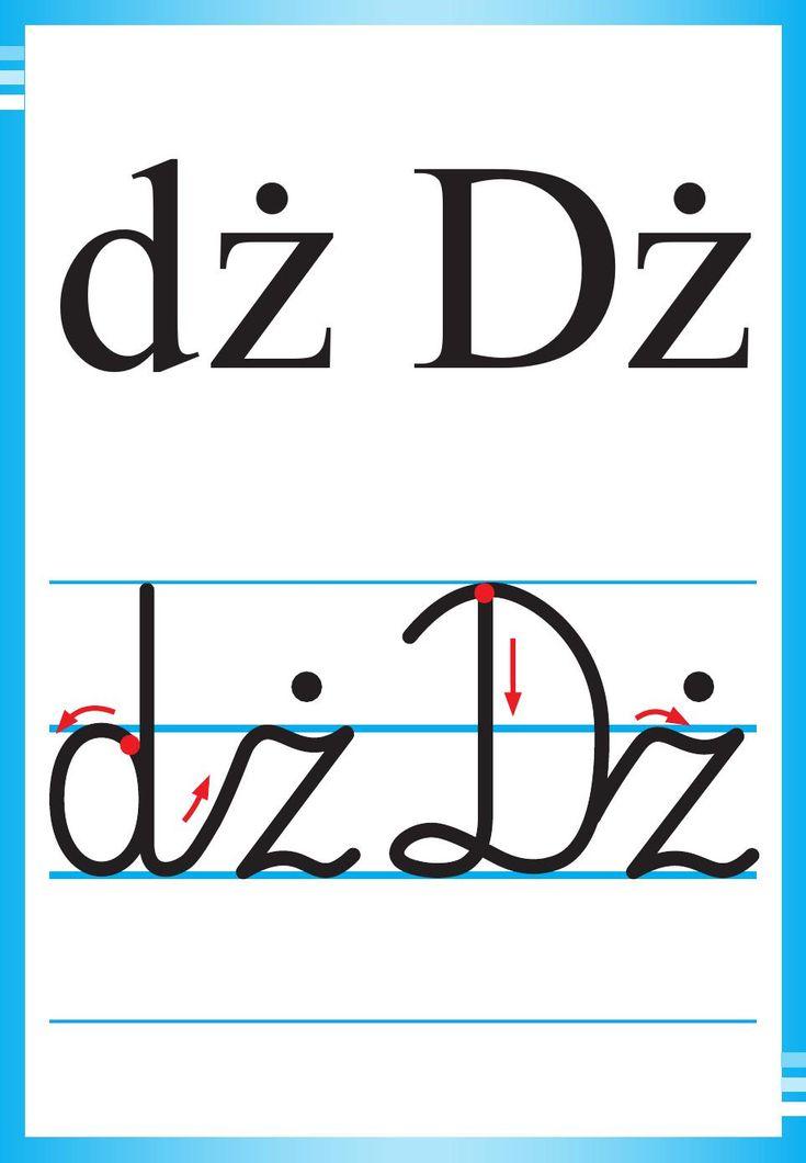 Alfabet polski, pisany dla dzieci do druku 12
