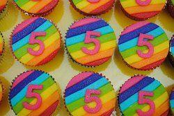 cupcake regenboog