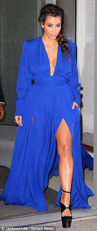 kim kardashian + blue gown