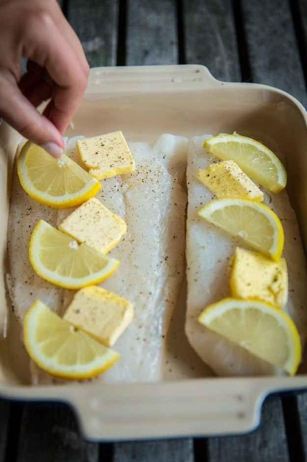 Fish in Lemon & Butter Sauce
