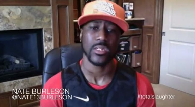 Cleveland Browns WR Nate Burleson Talks Battle Rap [Video] #TotalSlaughter- http://getmybuzzup.com/wp-content/uploads/2014/07/nate-burleson.jpg- http://getmybuzzup.com/nate-burleson-talks-battle-rap/- Nate Burleson on Murda Mook vs Loaded Lux Check out this video footage of NFL player Nate Burleson as he talks about how big the rap battle between Loaded Lux versus Murda Mook.Enjoy this video stream above after the jump. Follow me:Getmybuzzup on Twitter Getmybuzzup on