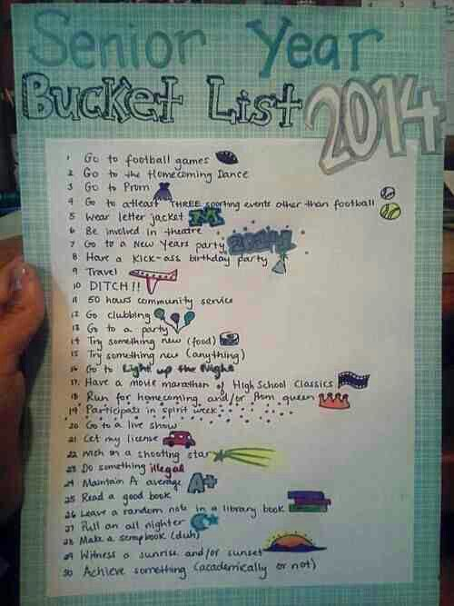 Senior Year Bucket List #2015