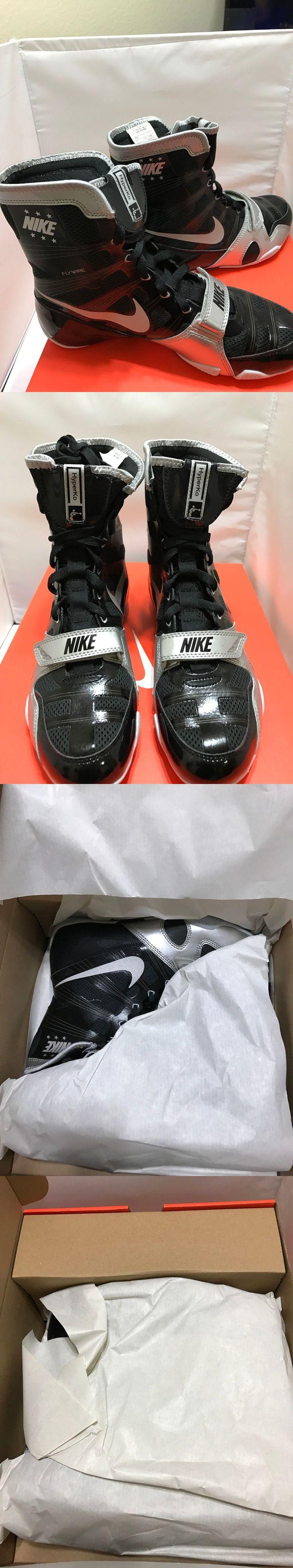 Men Shoes: New Nike Hyperko Boxing Shoes - Black/Silver - Size 7.5 Us