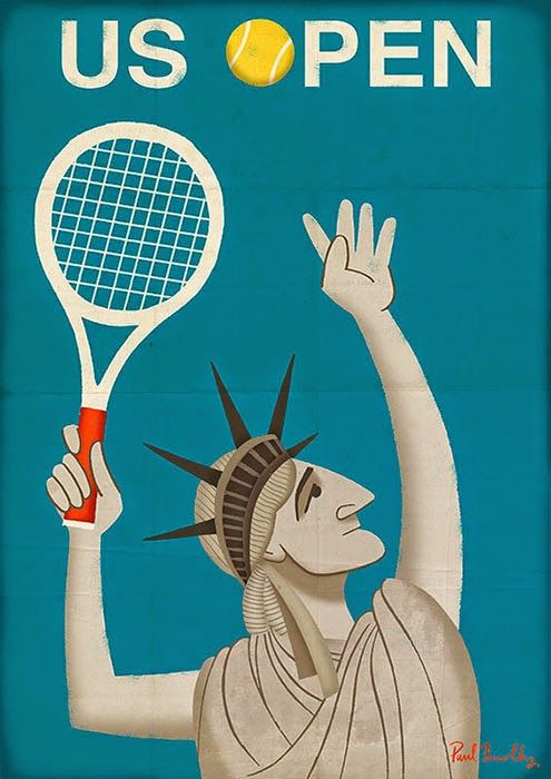 The US Open - Grand Slam posters by Paul Thurlby
