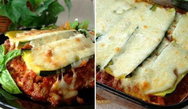 Lehké cuketové lasagne s voňavými bylinkami