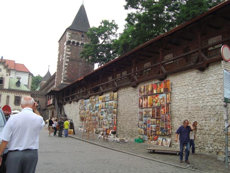 Gademaler i Krakow er ikke helt uefne udi deres svære kunst