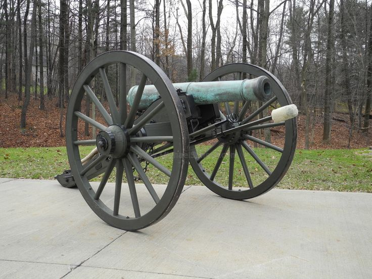 Ames 6-pdr Bronze Cannon.  This particular gun was cast by the Ames Foundry in Chelmsford, Massachusetts, in 1855.  Michael Semens' Historical Antiques.