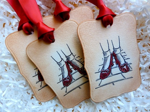 Ruby Slipper Gift tags