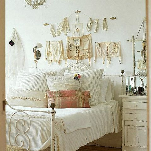 I Heart Shabby Chic: Shabby Chic Spring Pastel Heaven Decorating Ideas 2012Vintage Lingerie, Wall Decor, Decor Ideas, Bedrooms Design, Shabby Chic, Interiors Design, French Country, Vintage Bedrooms, Country Bedrooms