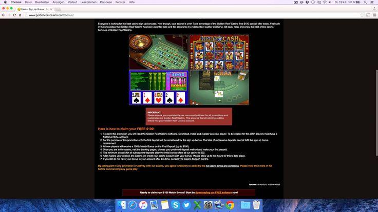 Golden Reef Casino Testbericht: Anmeldung & Einzahlung erklärt [4K]