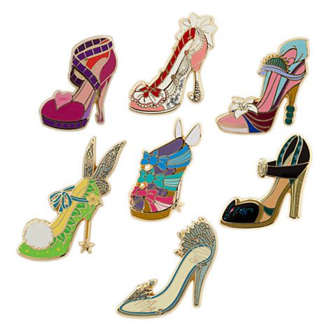 Disney Divas Runway Shoe Pin Set
