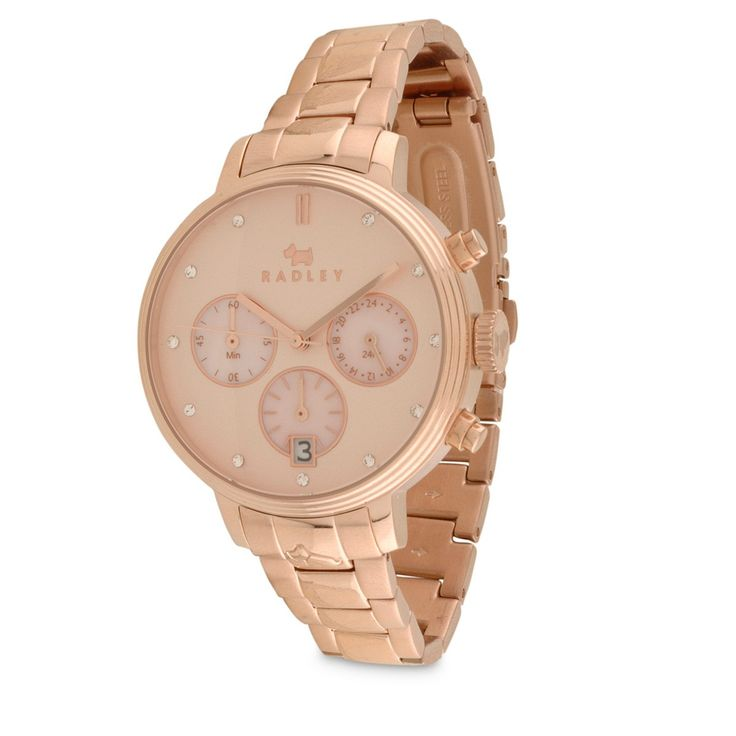 Battersea Rose Gold Bracelet Watch > Buy Watches Online at Radley