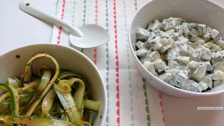 Heerlijk bij een bbq of hoofdgerecht, je kunt zo'n frisse komkommersalade…