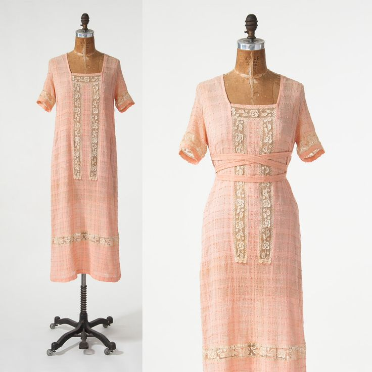 Vintage 1920s Silk Dress, 20s Coral Pink Crepe Shift Dress with Lace Inserts, Flapper Day Dress, Women's Clothing, Dresses by missfarfalla on Etsy https://www.etsy.com/listing/271976524/vintage-1920s-silk-dress-20s-coral-pink