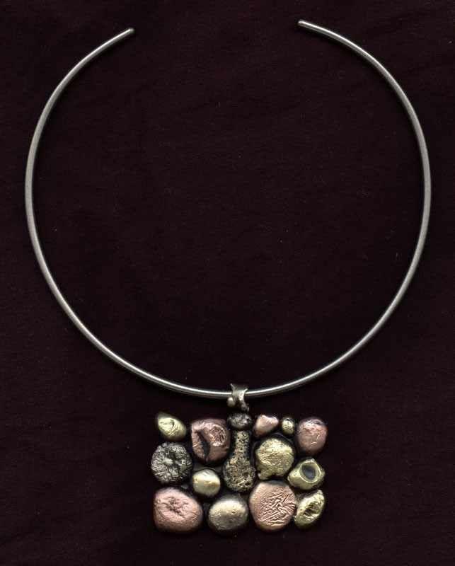 Naszyjnik zawieszka wisiorek mosiężny miedziany ręcznie robiona biżuteria artystyczna