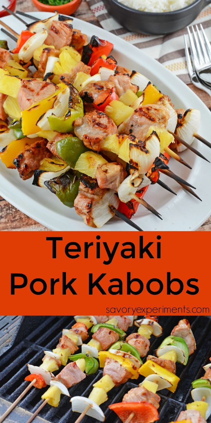 Teriyaki Pork Kabobs Recipe - Kabobs on the grill are a class summer ...
